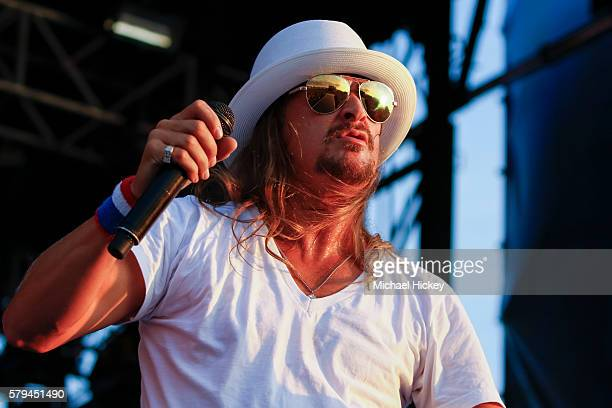 Kid Rock performs at the Indianapolis Motor Speedway on July 23 2016 in Indianapolis Indiana