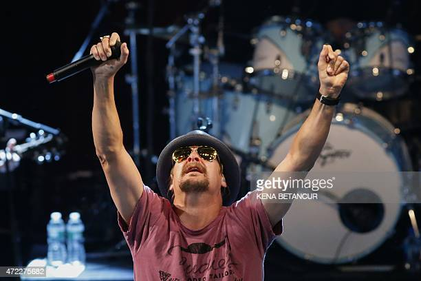 Kid Rock performs at the Live Nation Celebration of National Concert Day at Irving Plaza on May 5 2015 in New York National Concert Day according to...