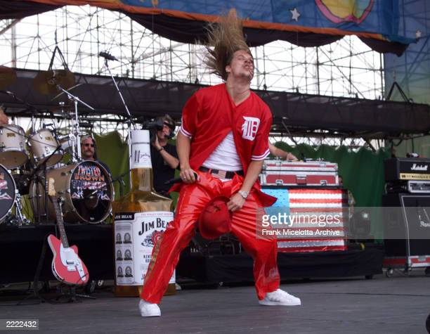 Kid Rock performs at Woodstock 99 at Griffiss AFB in Rome New York Woodstock 99 will be a three day music and arts festival with over 45 bands...