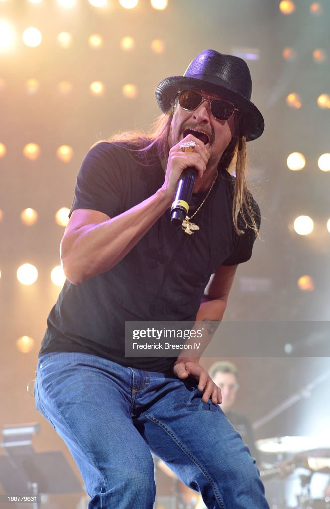 Kid Rock performs during Keith Urban's Fourth annual We're All For The Hall benefit concert at Bridgestone Arena on April 16, 2013 in Nashville, Tennessee.