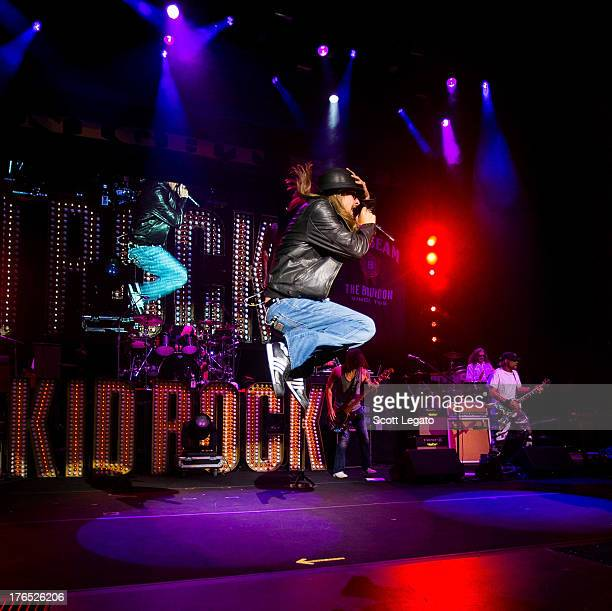 Kid Rock performs during the $20 Best Night Ever Tour at DTE Energy Music Theater on August 14 2013 in Clarkston Michigan