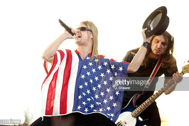 Kid Rock performs during the half time show at Super Bowl XXXVIII