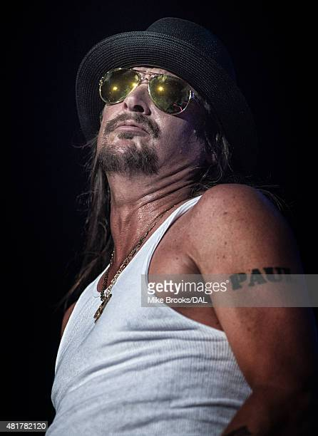 Kid Rock performs in concert at the Gexa Energy Pavillion on July 23 2015 in Dallas Texas