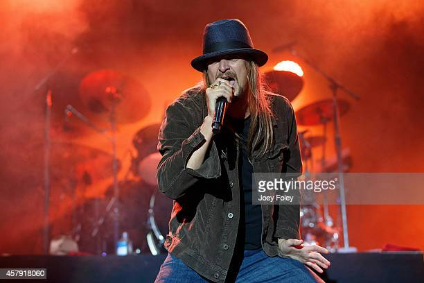 Kid Rock performs live onstage during the 2014 Louder Than Life Festival at Champions Park on October 5 2014 in Louisville Kentucky