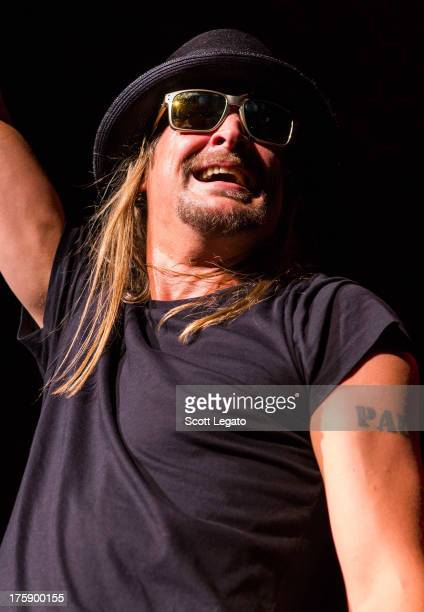 Kid Rock performs on night one of eight sold out shows at DTE Energy Music Theater on August 9 2013 in Clarkston Michigan