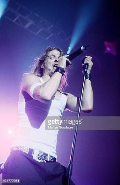 Kid Rock performs on stage United Kingdom 1998