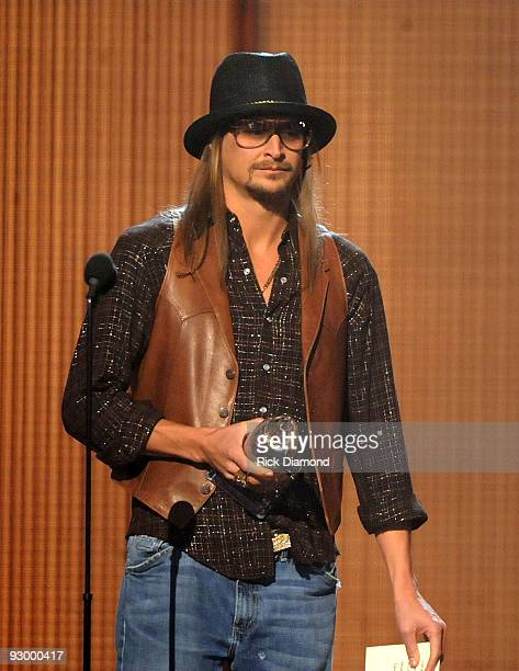 Kid Rock performs onstage during the 43rd Annual CMA Awards at the Sommet Center on November 11 2009 in Nashville Tennessee