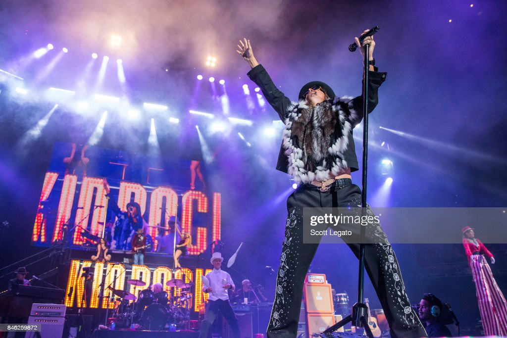 Kid Rock performs the very first show at the new Little Caesars Arena on September 12, 2017 in Detroit, Michigan.