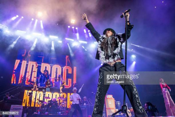Kid Rock performs the very first show at the new Little Caesars Arena on September 12 2017 in Detroit Michigan