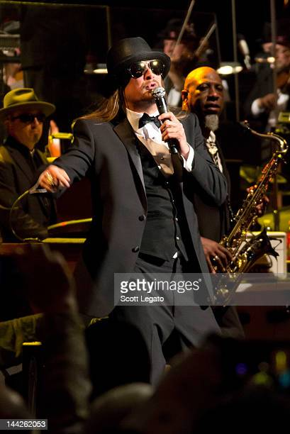 Kid Rock performs with The Detroit Symphony Orchestra at the Fox Theatre on May 12 2012 in Detroit Michigan