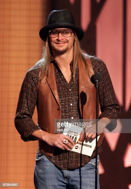 Kid Rock speaks onstage at the 43rd Annual CMA Awards at the Sommet Center on November 11 2009 in Nashville Tennessee