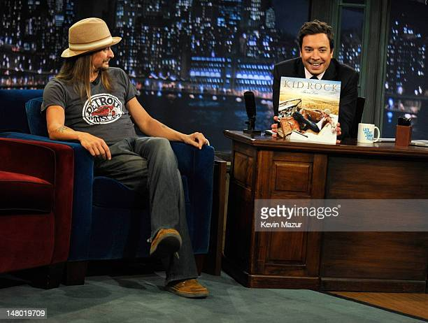 """Kid Rock visits """"Late Night With Jimmy Fallon"""" at Rockefeller Center on July 11, 2011 in New York City."""