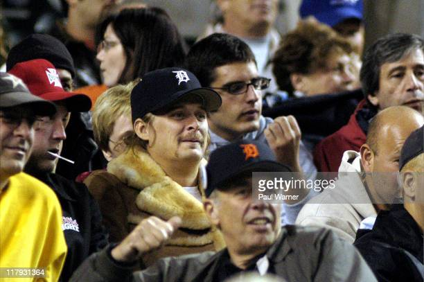 Kid Rock watches as the Detroit Tigers play the Chicago White Sox on Tuesday, Sept. 28, 2004 at Comerica Park in Detroit. The Tigers won, 6-4.