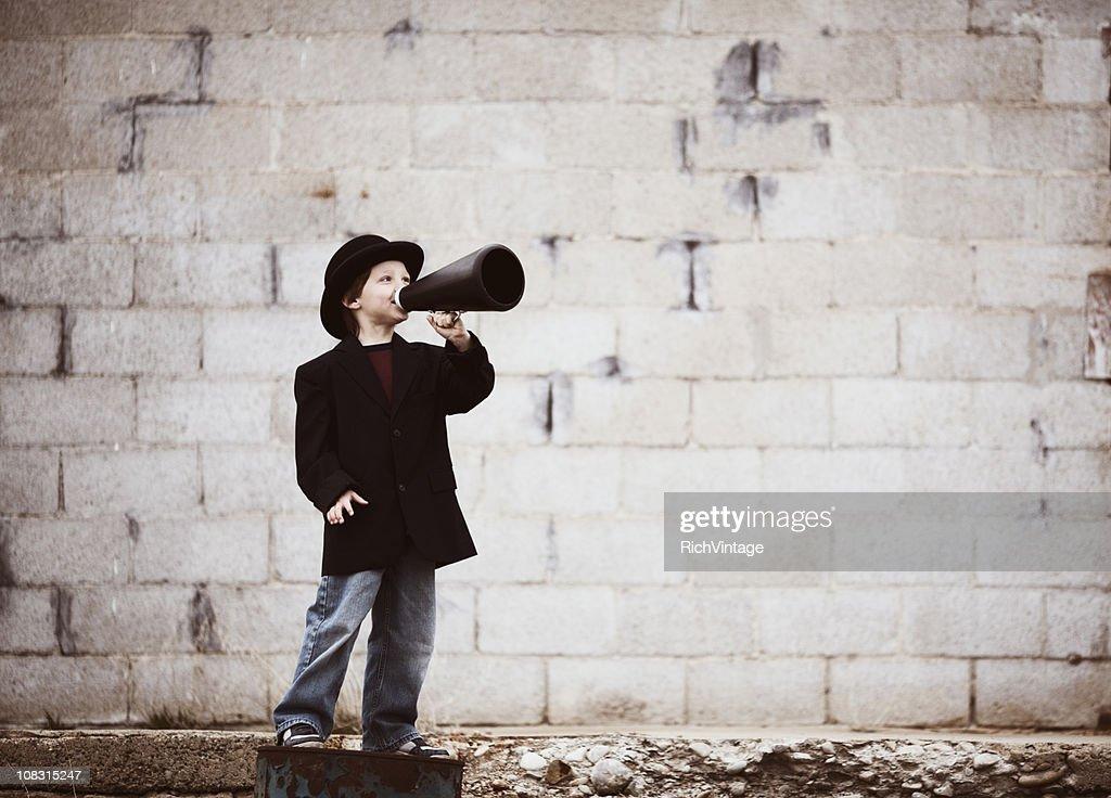 Kid Salesman : Stockfoto