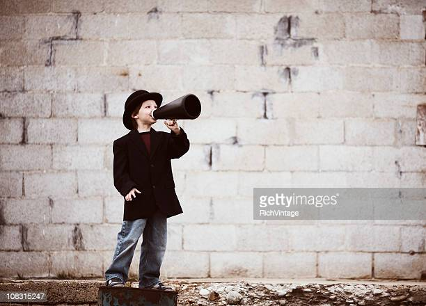 kid salesman - promoter stock pictures, royalty-free photos & images