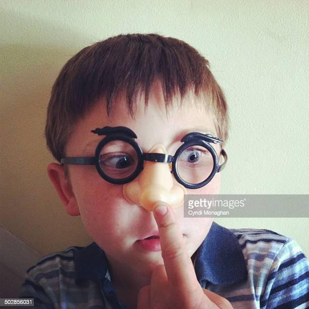 Kid Wearing Nose Glasses