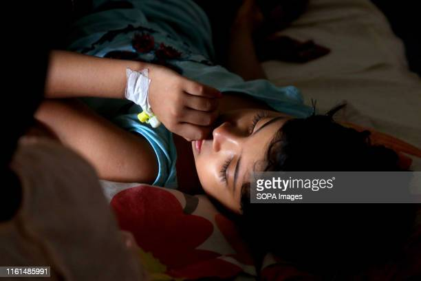 A kid with a Cannula at the hospital in Dhaka A number of children spent the Eid day undergoing treatment for dengue fever at different hospitals in...