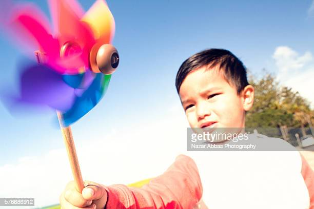 Kid with Pinwheel