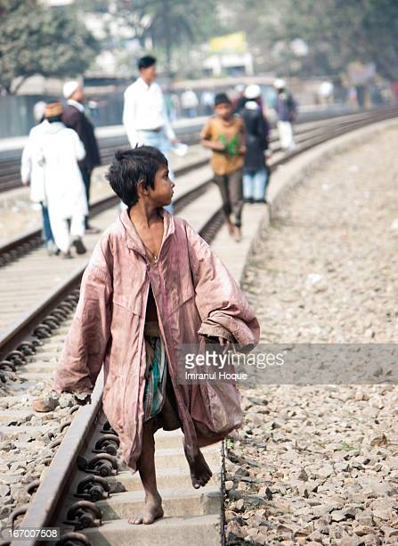 Kid without home, parent, family. He lives in the railway station - eats there, sleeps there. His parent did not take his responsibility, neither did...