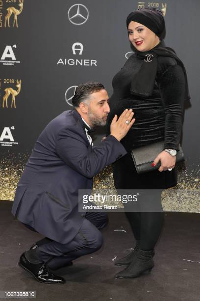 Kida Khodr Ramadan and his wife Meryem Ramadan attend the 70th Bambi Awards at Stage Theater on November 16 2018 in Berlin Germany