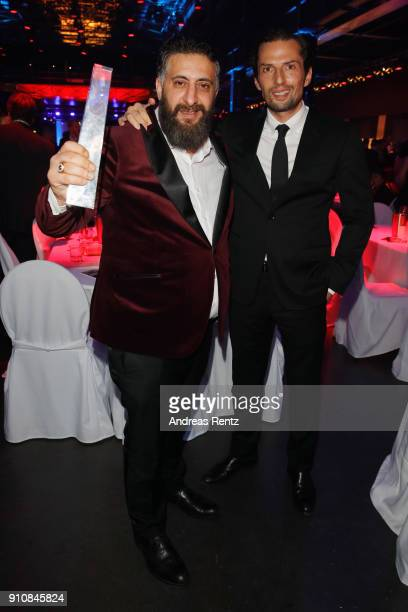 Kida Khodr Ramadan and Quirin Berg pose with their award during the German Television Award at Palladium on January 26 2018 in Cologne Germany