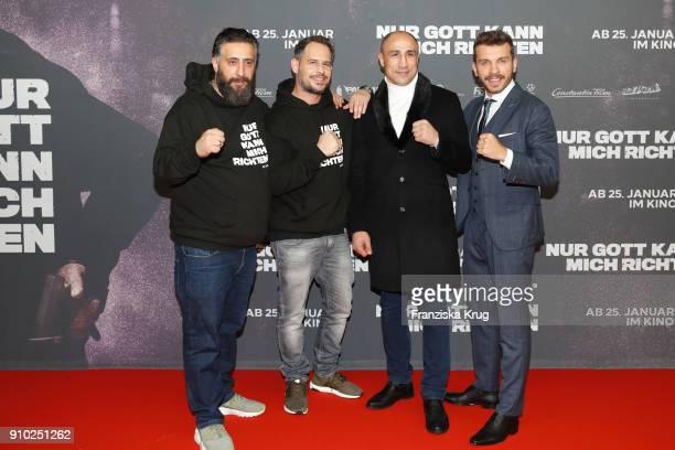 Kida Khodr Ramadan Moritz Bleibtreu Arthur Abraham and Edin Hasanovic attend the 'Nur Gott kann mich richten' Screening at Cubix Alexanderplatz on...