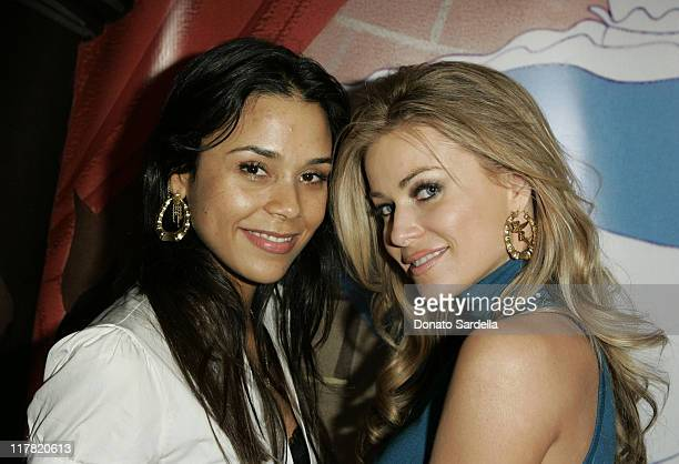 Kidada Jones and Carmen Electra during Disney's Alice in Wonderland Mad Tea Party at Private Residence in Los Angeles California United States