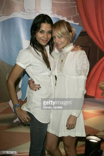 Kidada Jones and Nicole Richie during Disney's Alice in Wonderland Mad Tea Party at Private Residence in Los Angeles California United States