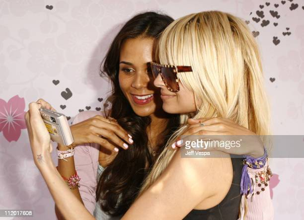 Kidada Jones and Nicole Richie during Kidada Jones Hosts Kidada for Disney Coutour Party at Private Residence in Bel Air California United States