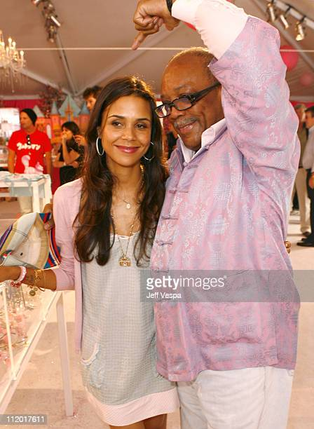 Kidada Jones and Quincy Jones during Kidada Jones Hosts Kidada for Disney Coutour Party at Private Residence in Bel Air California United States