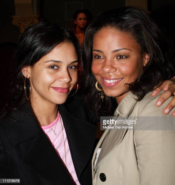 Kidada Jones and Sanaa Lathan during Charlotte Ronson's 2006 Fall/Winter Fashion Show and After Party at Roosevelt Hotel in Hollywood California...