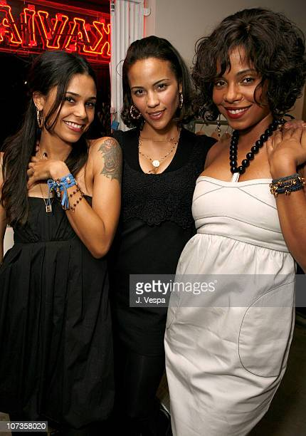 Kidada Jones Paula Patton and Sanaa Lathan during Cavern Wallpaper and Kidada for Disney Coutour Celebrate Their New Collections at Kaviar and Kind...