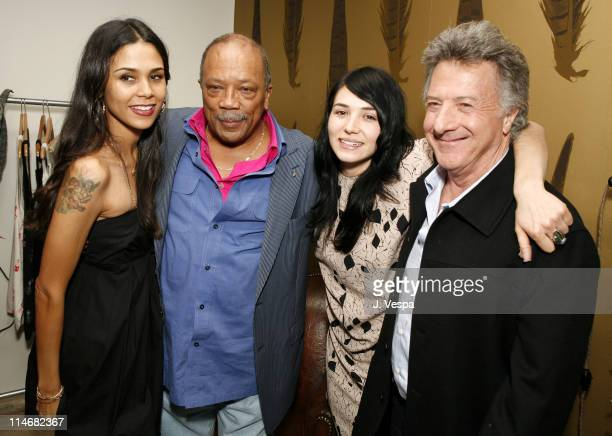 Kidada Jones Quincy Jones Carly Margolis and Dustin Hoffman