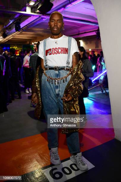 Kiddy Smile attends MOSCHINO [tv] HM Launch Party at Le Dernier Etage on November 6 2018 in Paris France