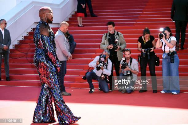 Kiddy Smile attends the screening of Atlantics during the 72nd annual Cannes Film Festival on May 16 2019 in Cannes France