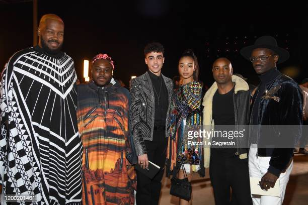 Kiddy Smile Manon Bresch and guests attends the Balmain Menswear Fall/Winter 20202021 show as part of Paris Fashion Week on January 17 2020 in Paris...