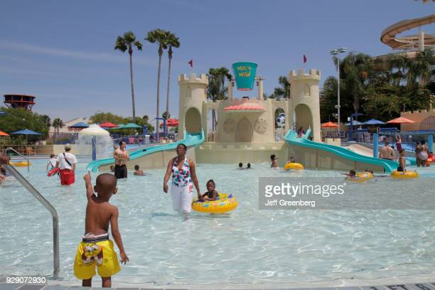 A kiddy swimming pool at the Wet'n Wild water park