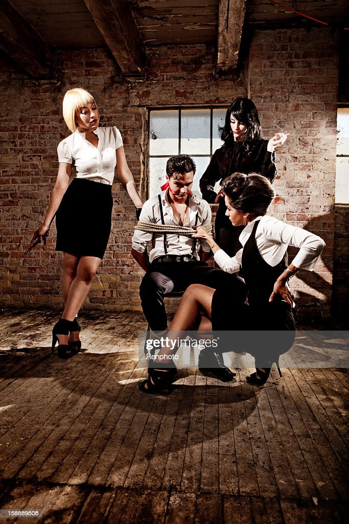 Kidnapping and Interrogating : Stock Photo