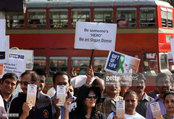 Kidney patients organised a peace march from Churchgate to Azad Maidan to spread awareness about donating organs on Wednesday