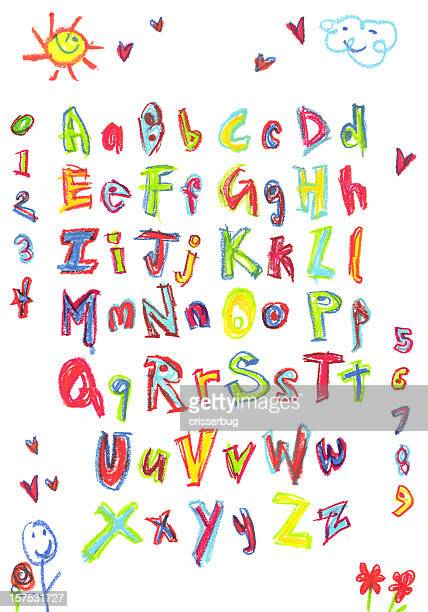 kids alphabet - alphabet stock pictures, royalty-free photos & images
