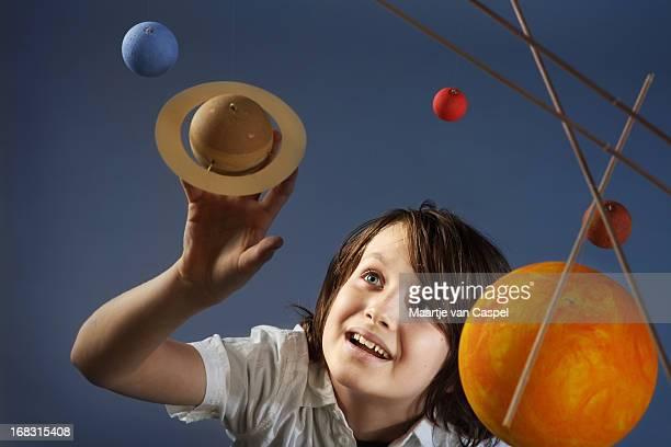 Kids & Science, homemade Solar System - Studio