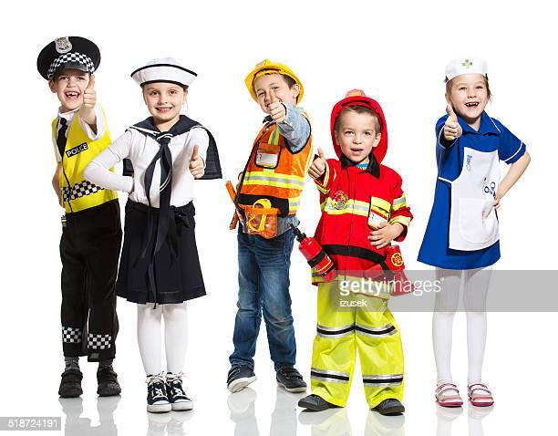 crianças e profissões - objetivo militar imagens e fotografias de stock