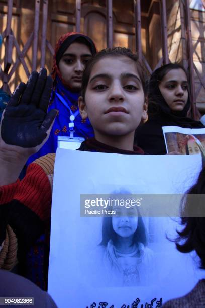 QUETTA BALOCHISTAN PAKISTAN Kids are holding protest against the rape and murder of sevenyearsold Zainab in Kasur District Quetta