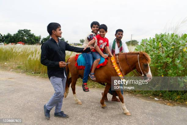 Kids are seen enjoying a horse ride in Dia Bari. Dia Bari is the most popular attractive destination for tourists in Dhaka. It is a very nice green...