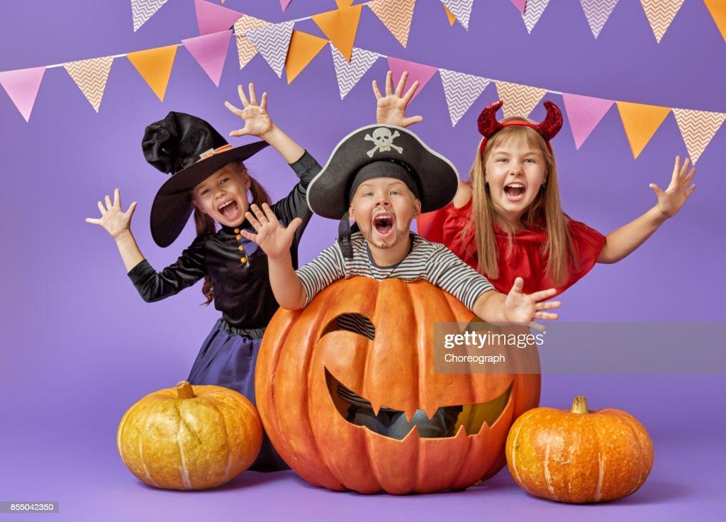 kids at halloween : Stock Photo