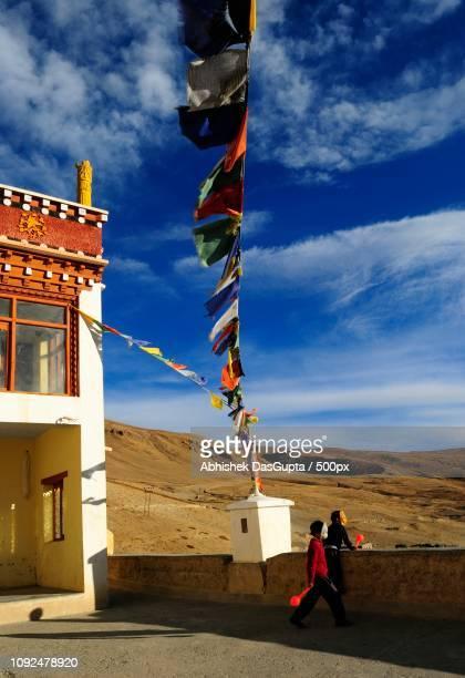 Kids at Kibber Monastery