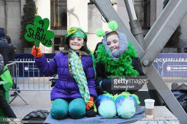 Kids attend the 2019 St Patrick's Day Parade on March 16 2019 in New York City