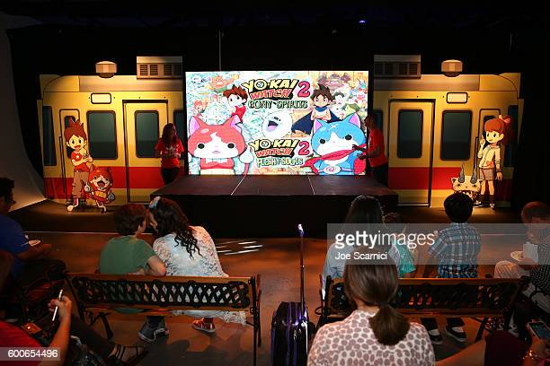 Kids attend the YOKAI WATCH 2 preview event at Siren Studios on September 8 2016 in Hollywood California