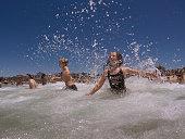 sydney australia kids celebrate christmas day