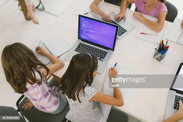 Kinder Im der Schule-Code